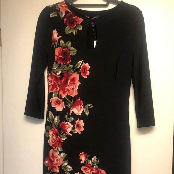 Rose Black Dress White House Black Market